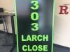 3D laser cut acrylic exterior address sign
