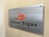 brushed aluminum office sign sample