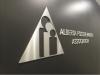 laser cut brushed metal logo