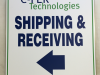 custom shipping receiving sign