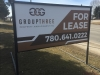 for lease road sign