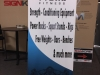retractable banner stand for fitness sign