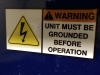 Warning Grounded Decals