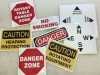 caution danger stickers