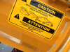 caution truck label