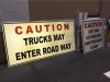 reflective construction road signs