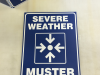 serve weather muster point signs