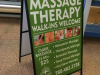 massage metal aframe sandwich board