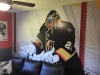 kids room wall mural nhl goalie