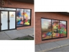 daycare perforated window film